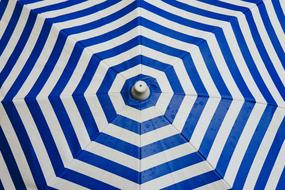 Umbrella Parasol Shade white blue