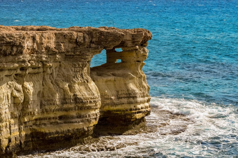Cape Greco and the turquoise sea in Cyprus