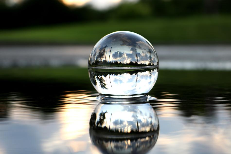 Crystal Ball Sunset Nature