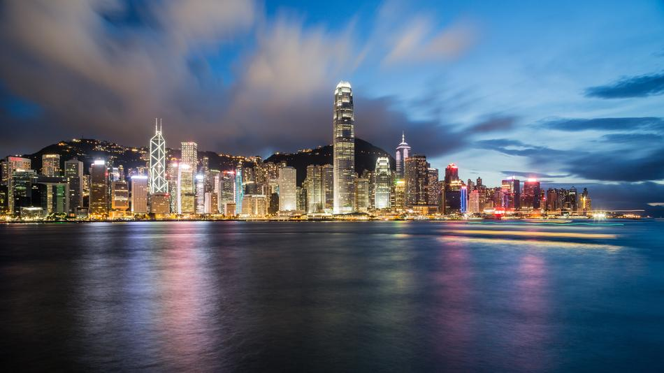 magnificent Hong Kong Night river