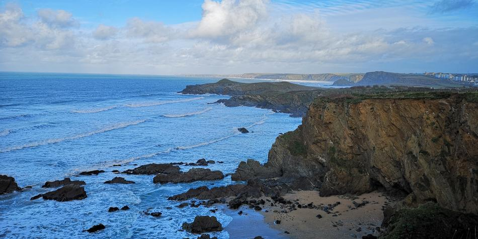 wonderful Cornwall Coast Ocean
