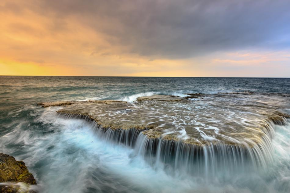 The Sea Waterfall Ocean Waves