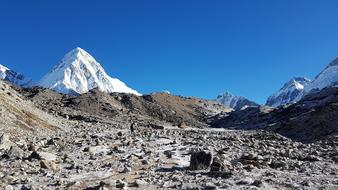 base camp on everest in nepal