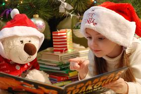 Candle and Girl Santa Claus