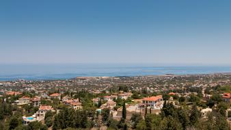 North Cyprus city and sea