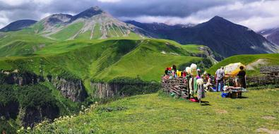 Caucasus Mountains green
