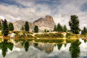 Tofane Dolomites and water