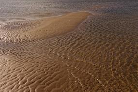 photo of shallow water on the North Sea coast