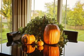 Pumpkins Fall Table decoration
