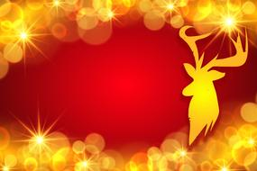 background christmas decoration red yellow drawing