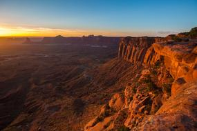 magnificent Sunset Canyonlands