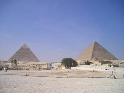 Pyramids of Khafre and cheops, Egypt, giza