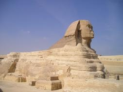 the famous statue of the Sphinx in Egypt