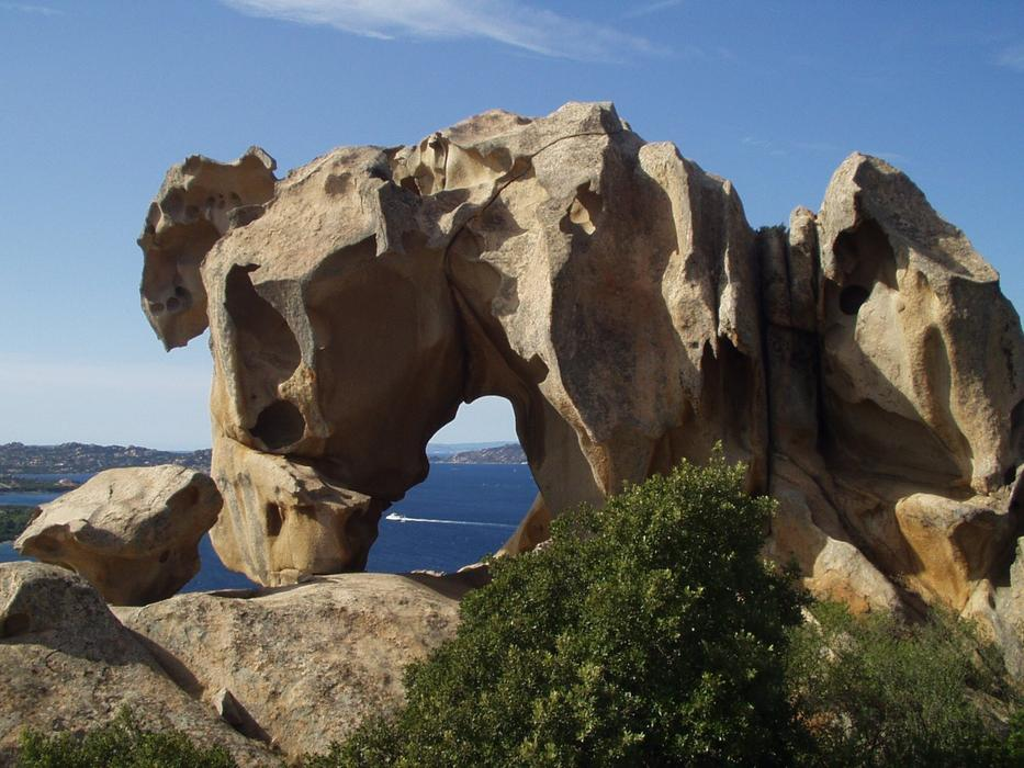 rock on the coast of Sardinia