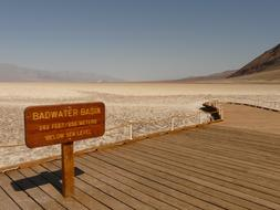 Badwater Basin Salt Pan sign
