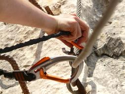 carabiners on ropes