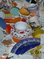 photo of fragments of dishes