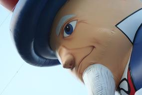 head of Uncle Sam, Balloon, detail