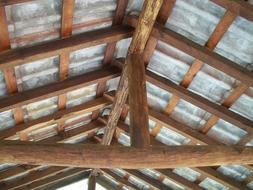 photo of a wooden crate roof