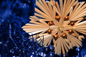 straw Christmas star