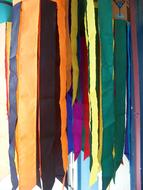 Windsock Flags Rainbow drawing
