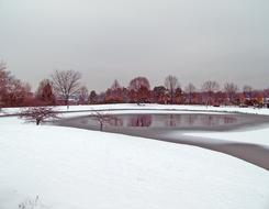 snow Frozen Pond