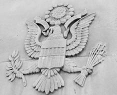 American Eagle, state symbol on wall