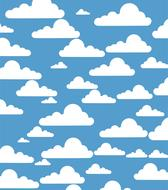 clouds sky blue cumulus drawing