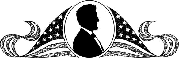 abraham lincoln president icon drawing