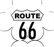 route 66 highway drawing