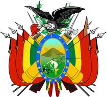 bolivia coat arms flag crest drawing