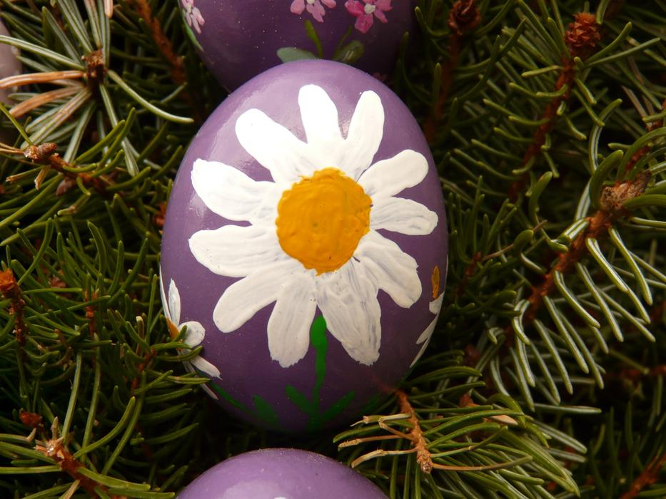Easter Egg with flower drawing