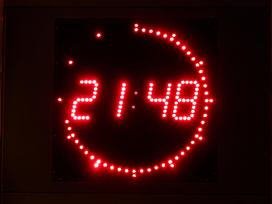 Digital Clock Time red