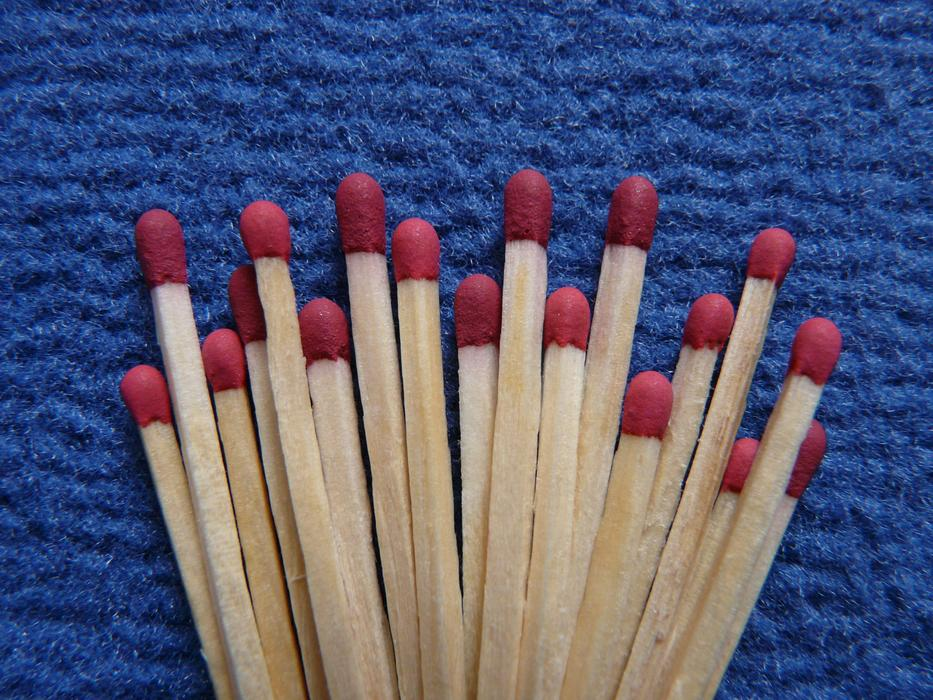 Matches Fire Burn red