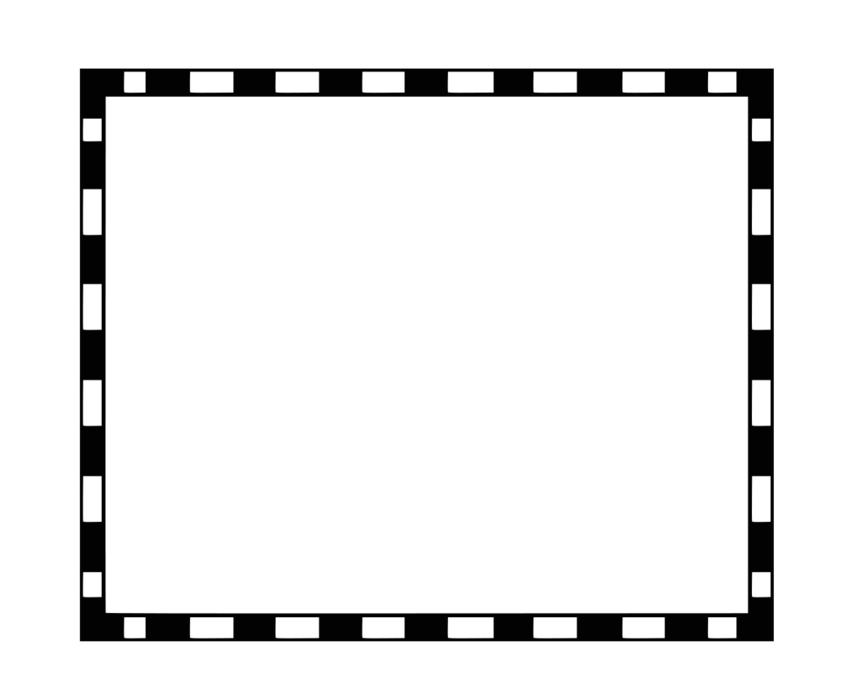 clipart of painted black and white rectangular frame