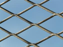 Fence Gate Grid blue sky