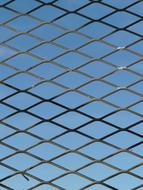 Fence Gate Grid metal blue sky