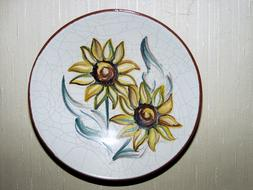 Ceramic Plate Decoration flowers drawing