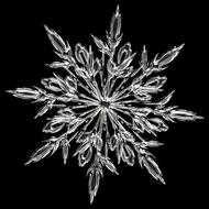 ice crystal snowflake ice form