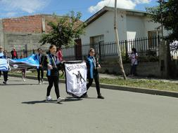 Parade Argentina people flag