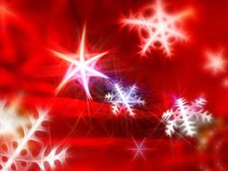 christmas greeting card stars red