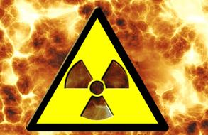 radioactivity nuclear power fire sign drawing