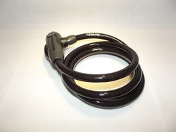 black bike lock