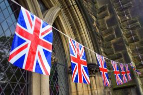 Banner Great Britain flags