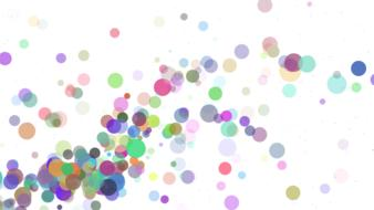 colorful bubble abstract drawing