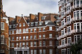 brick buildings in central London