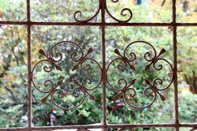 antique iron fence