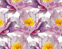 seamless repeating tiling flowers