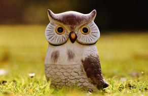 Funny Owl, garden decoration