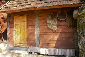 traditional wooden barn in Village, poland